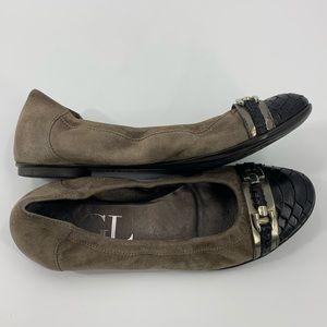 AGL Ginger Pebble Snake Toe Ballet Flats Size 37